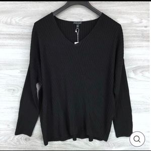 NWT EILEEN FISHER DIRECTIONAL RIBBED SWEAT…